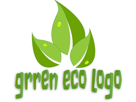 green eco: green eco leaves logo