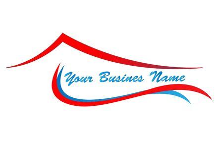 Rote, Blaue Haus-logo Standard-Bild - 9319981
