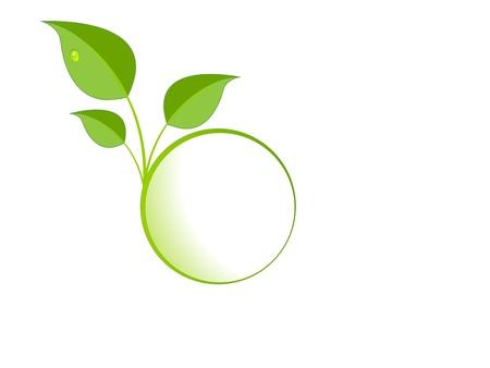 ordinateur logo: logo de feuilles vertes