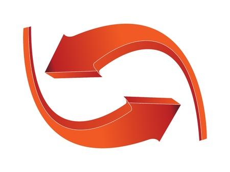 3D roten Pfeile Standard-Bild - 9319978