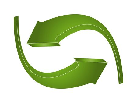 recycling logo: 3d green arrows Illustration