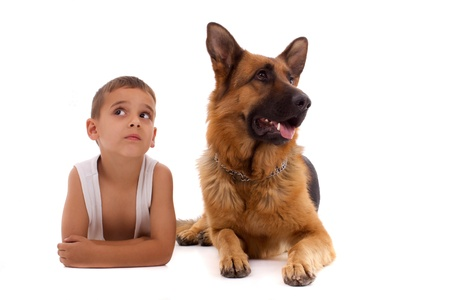 boy and his best friend Stock Photo - 9927098