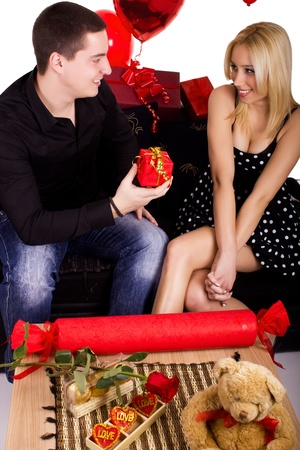 young beautiful couples in love Stock Photo