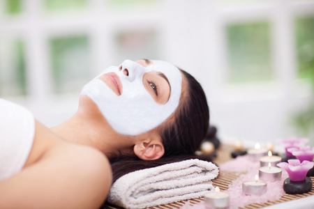 woman having beauty treatments in the spa center photo
