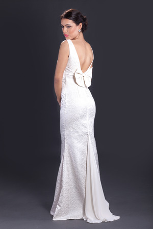 avantegarde: beautiful bride in  wedding dress