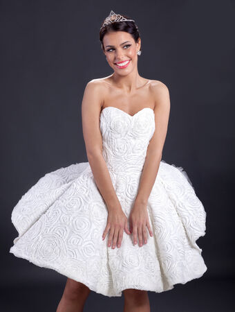 avantegarde: elegant woman in wedding dress Stock Photo
