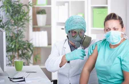 senior doctor, the concept of ebola, infectious diseases