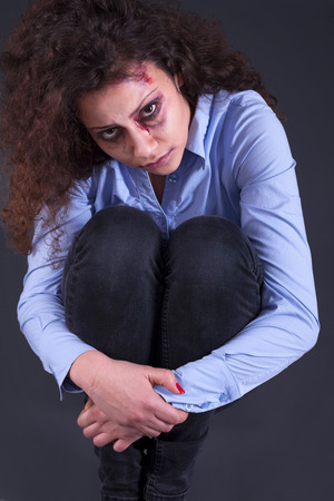 wife beater: domestic and rape violence. family problems and woman emotions