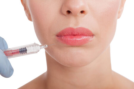 cheek: Botox shot in the female cheek