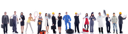 Group of industrial workers,workers physician and bussines people