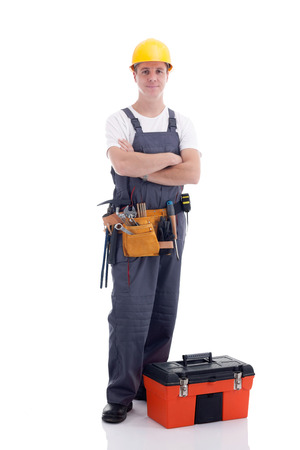 journeyman: friendly manual workeron white background