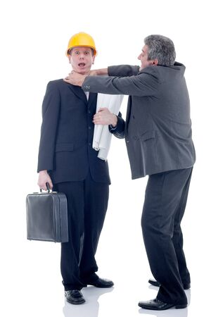strangling: Photo of businessmen strangling workers