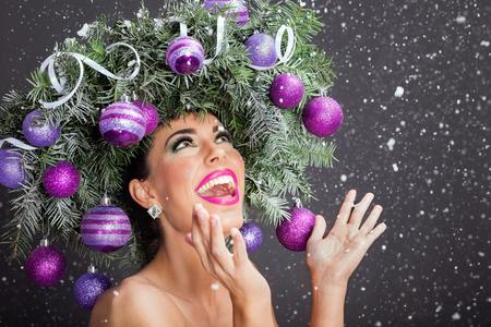 Beau concept femme l'image de Noël