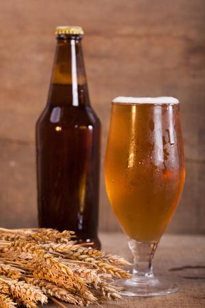 beer bottle: bottle and glass of beer