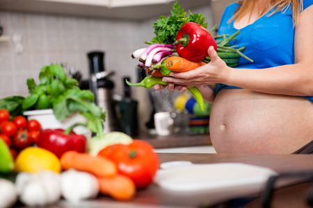 pregnant woman,nutrition vegan and healthy life concept photo