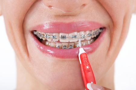 bellos dientes con la higiene bucal perfecta
