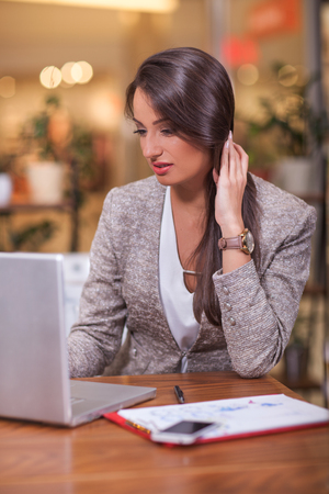 businesswoman working on lap top
