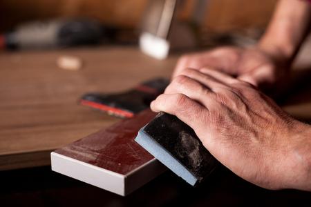 Carpenter Craftman Lumber Timber Woodwork Concept Banque d'images