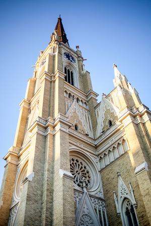 NOVI SAD, SERBIA -  Catholic cathedral in Serbian town, Novi Sad Banque d'images
