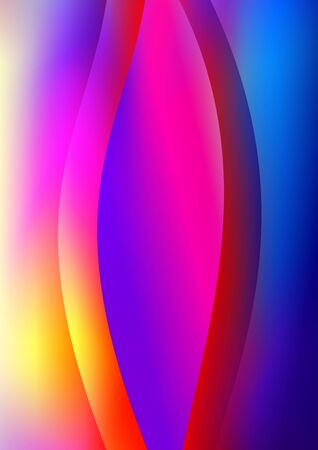 Modern abstract vector background template or Wallpaper on multi-color background. Color wave or arc. Abstract background for brochure, card, flyer, poster, cover. Vector illustration