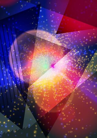 Modern abstract pattern vector background or Wallpaper on the background of colored triangles. Triangular shapes, luminous textures. Abstract background for brochure, card, flyer, poster, cover.