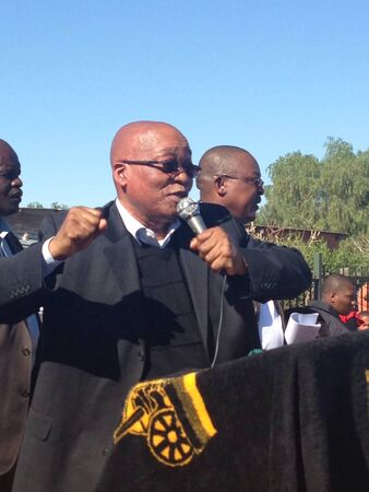 zuma: South African President Jacob Zuma singing