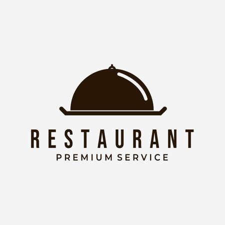 Serve Hood Restaurant Logo Vector Design Illustration Vintage, Bistro Logo, Vintage Cafe