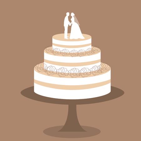 invitación de boda con un smoking y el vestido sobre un fondo