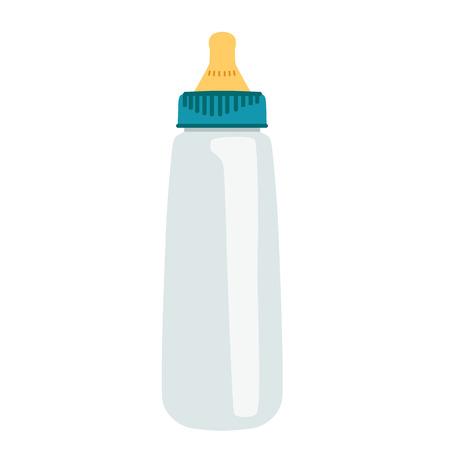 Baby bottle. Isolated object. Flat design Vector illustration Illustration