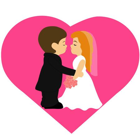 Braut Und Brautigam Cartoon Komisch Paar Hochzeitskarte Mit Den