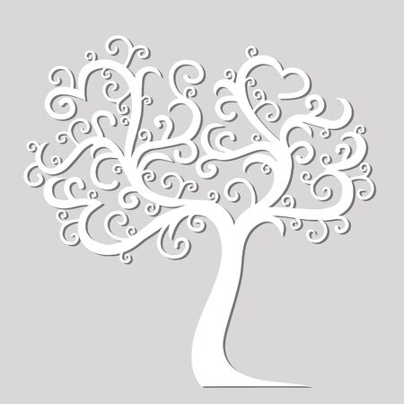 Art tree beautiful for your design. Vector ornament. Illustration