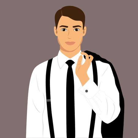 Guy businessman illustration. Illustration