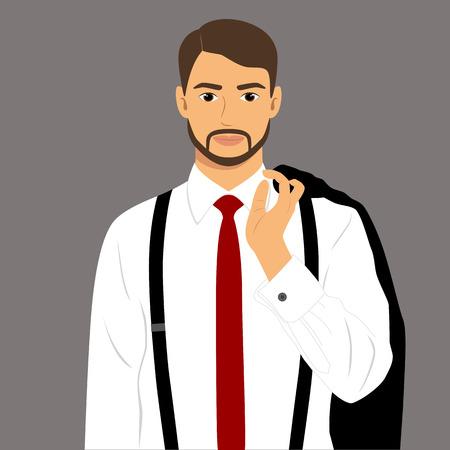 Guy businessman illustration. 일러스트