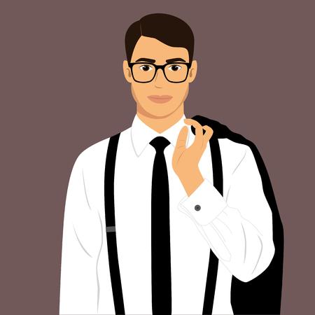 Guy businessman illustration. Ilustrace