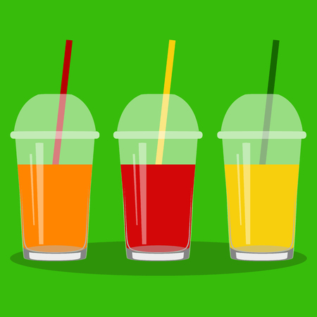 Healthy Lifestyle. Freshly squeezed juice in a glass. Illustration