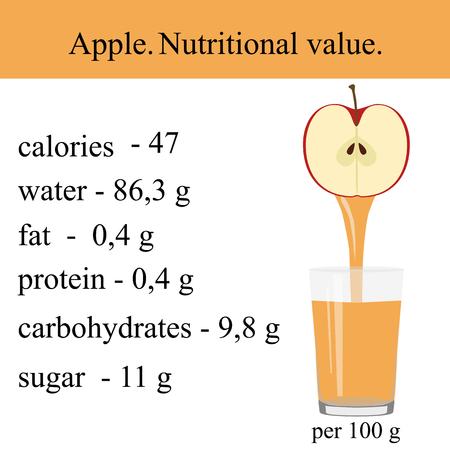 Healthy Lifestyle.An Apple. Illusztráció