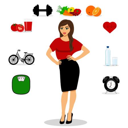 Healthy Lifestyle. Thin. Illustration