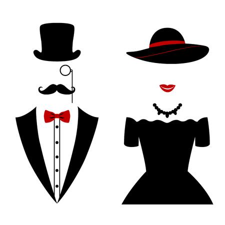 Heren en dame pictogram geïsoleerd op een witte achtergrond. vector illustratie