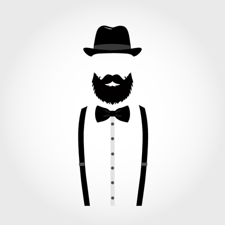 Suit icon isolated on white background. Gentleman icon. Ilustração