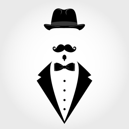 Suit icon isolated on white background. Gentleman icon. Vector illustration
