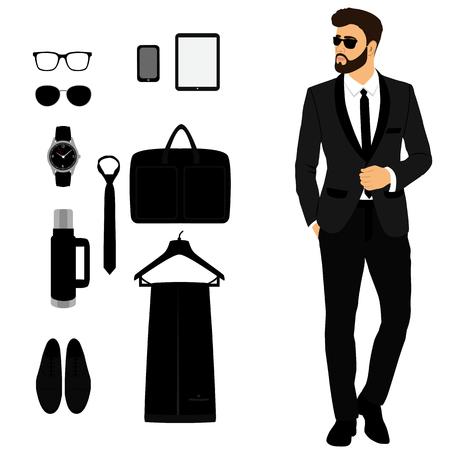 Mens tuxedo. Mens Accessories. Wedding mens set. Gentleman.