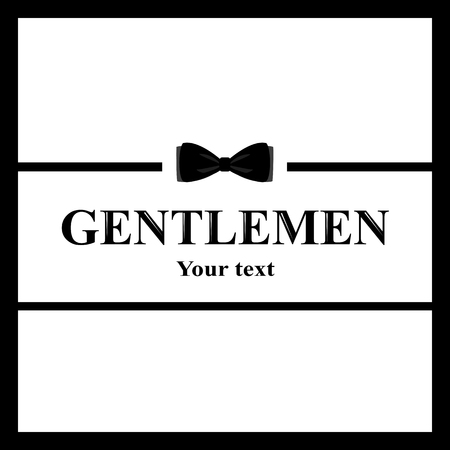 A postcard of a gentleman. The bow tie icon isolated on white ba