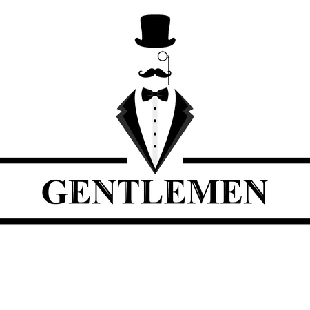 Gentleman icon. Suit icon isolated on white background. Flat des