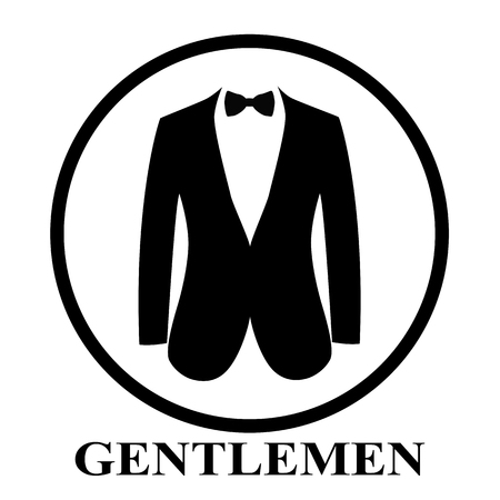 Gentleman icon. Suit icon isolated on white background.
