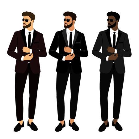 Wedding men s suit and tuxedo. Collection. The groom. Gentleman.