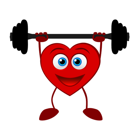 A heart. Healthy Lifestyle.