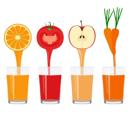 Freshly squeezed juice in a glass. Healthy Lifestyle. Фото со стока