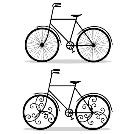 Bicycle. Wedding bicycle. Фото со стока