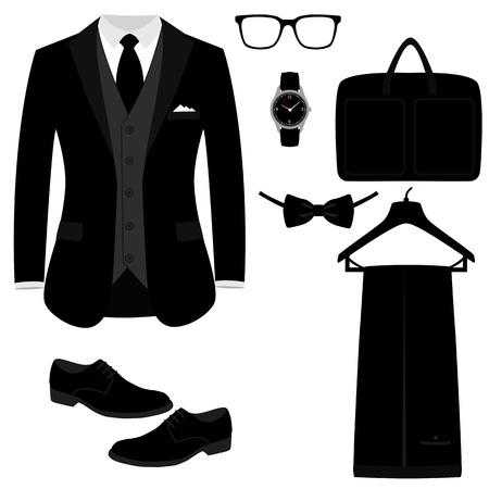 Men s Accessories. Flat design. Фото со стока