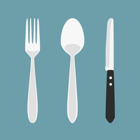 Dinner time. Cutlery. Фото со стока